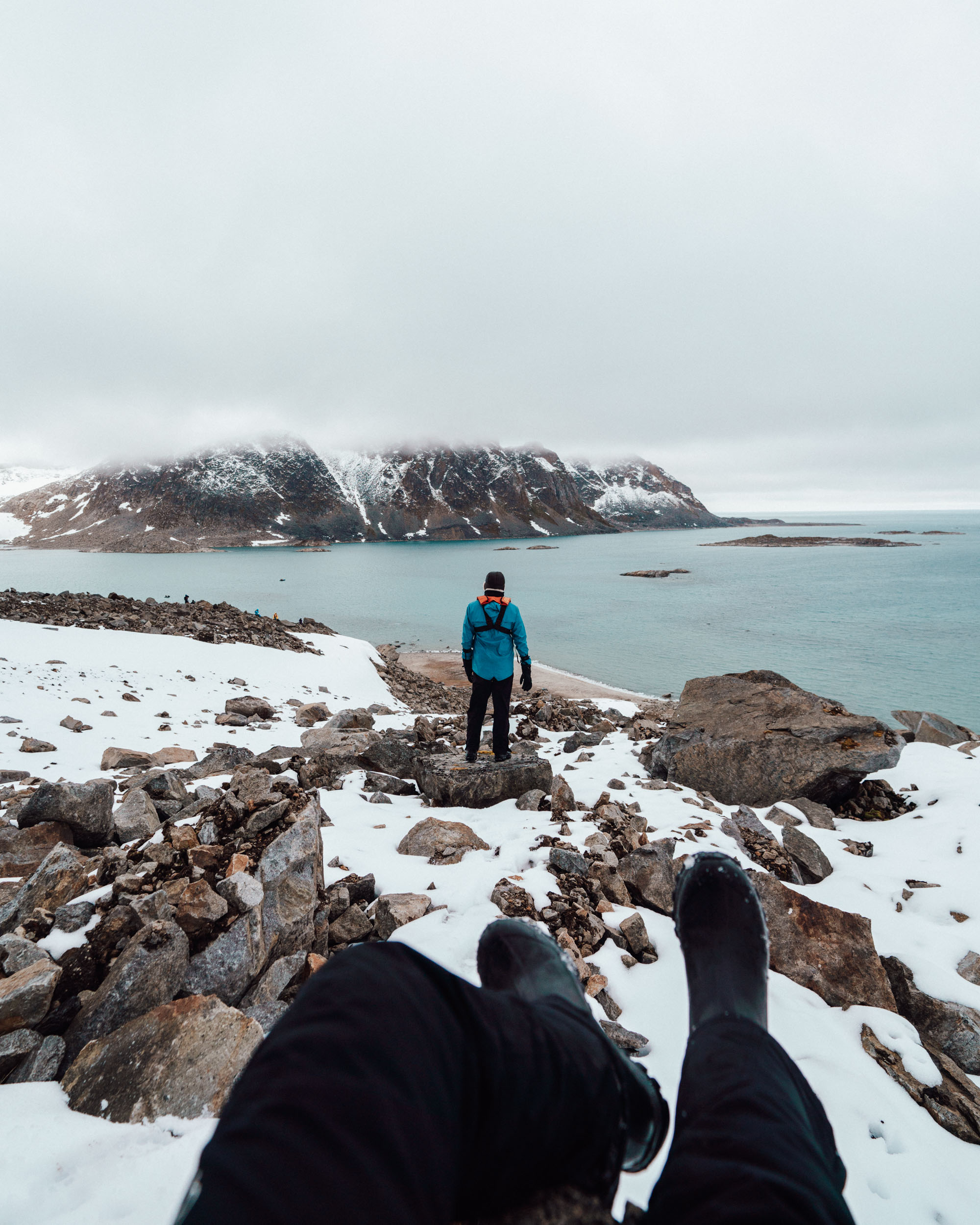 Hamilton Bukta glaciers and a beach in Svalbard Spitsbergen via @finduslost