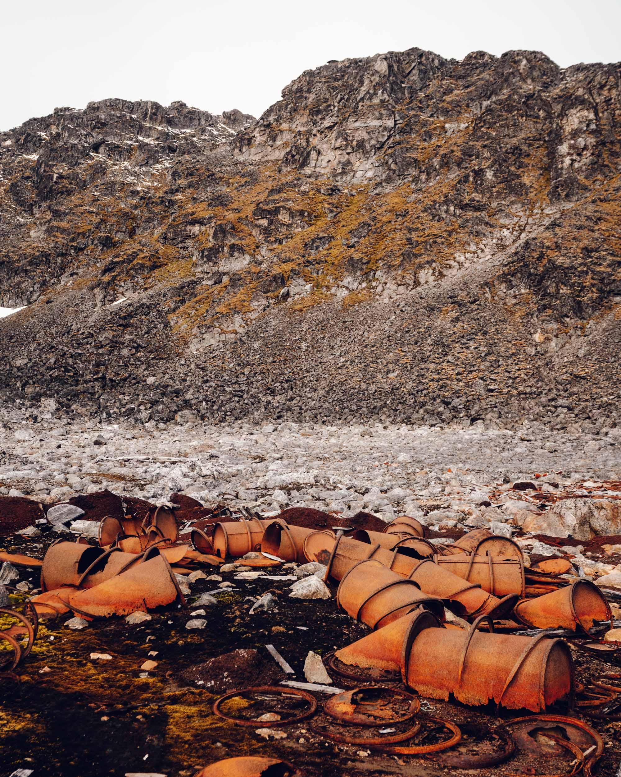 Virgohamna site in Spitsbergen