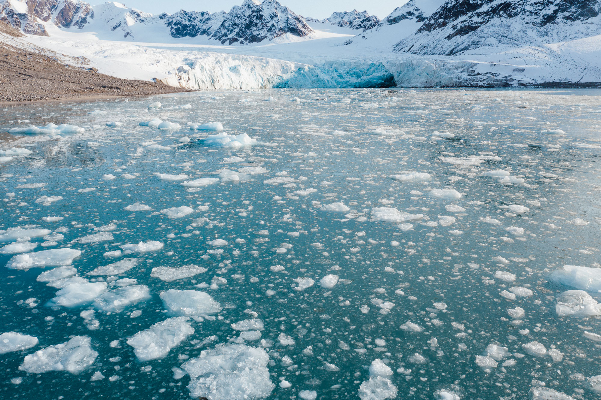Magdalenefjorden drone aerial photo in Spitsbergen Svalbard via Find Us Lost