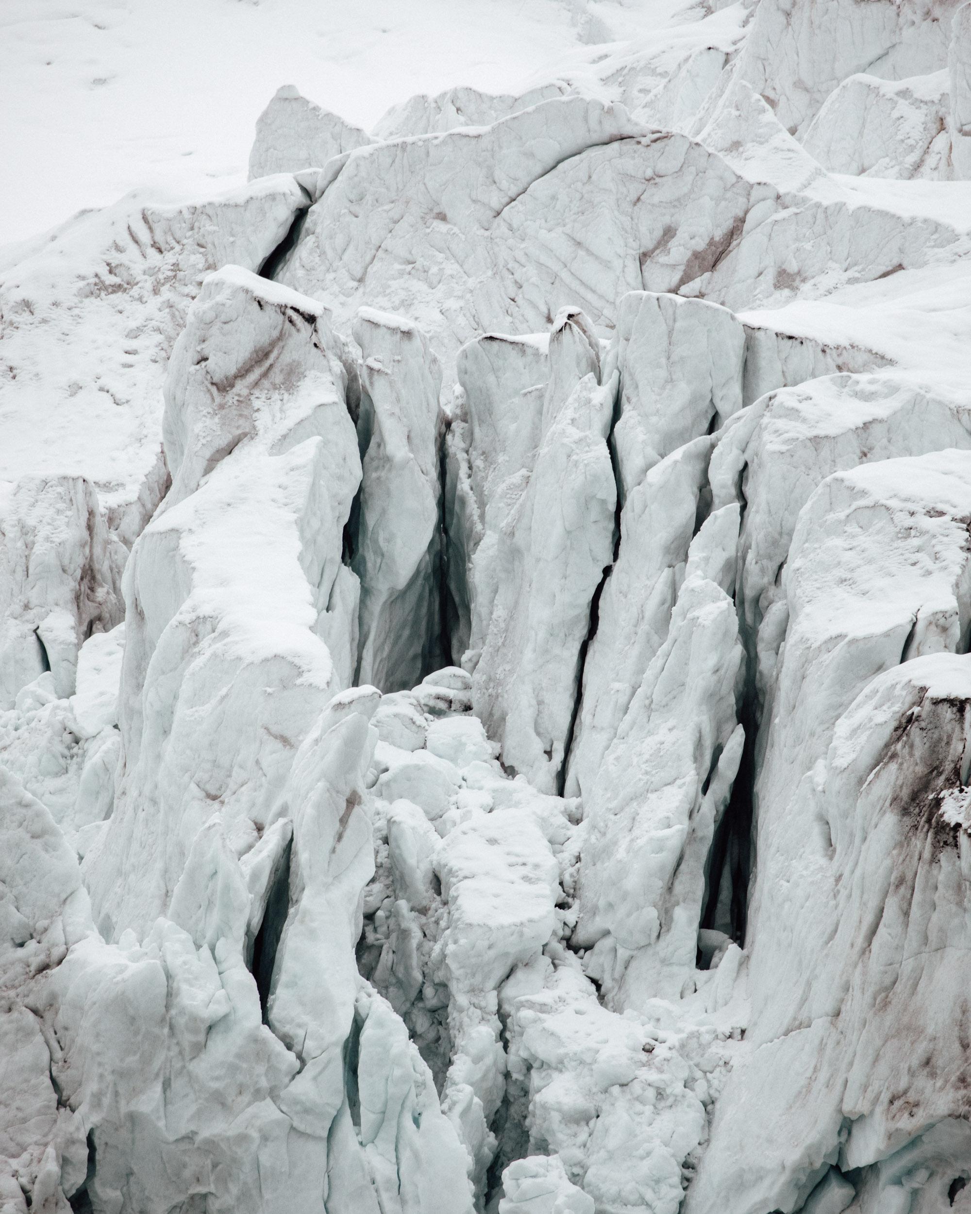 Hamilton Bukta glaciers in Svalbard Spitsbergen