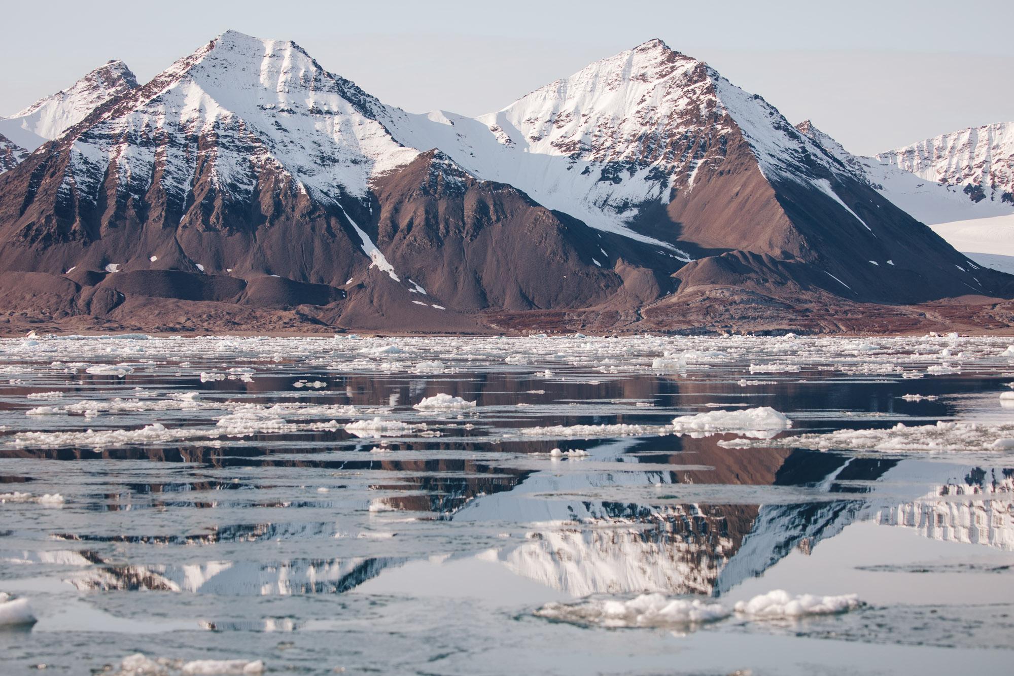Icebergs in Kongsfjorden Svalbard