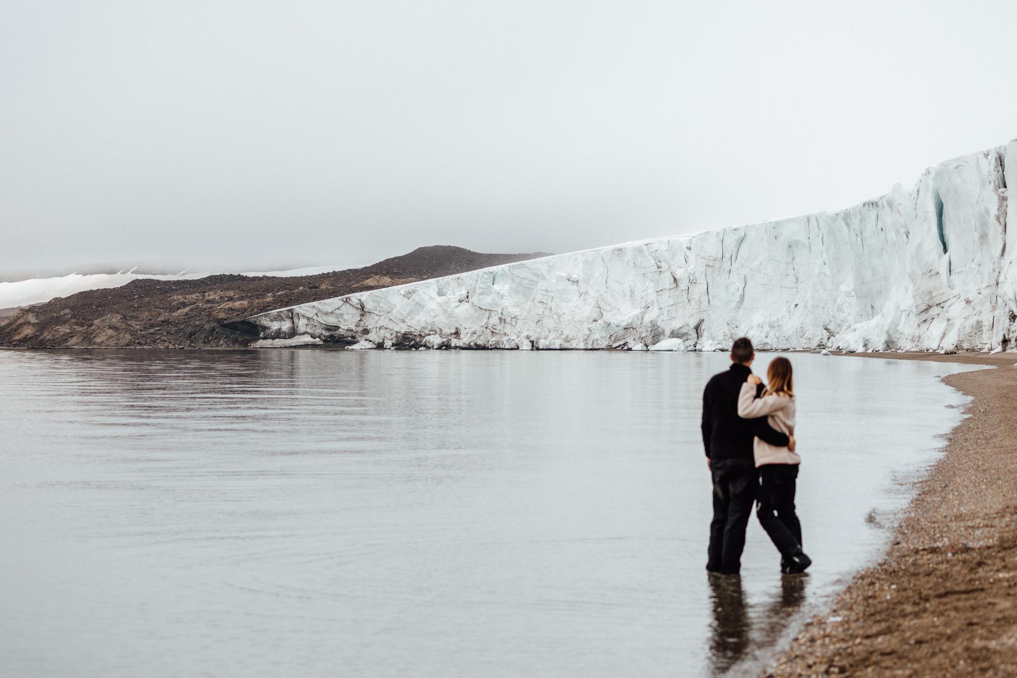 Glacier on the beach in Torrellneset Svalbard Spitsbergen via @finduslost