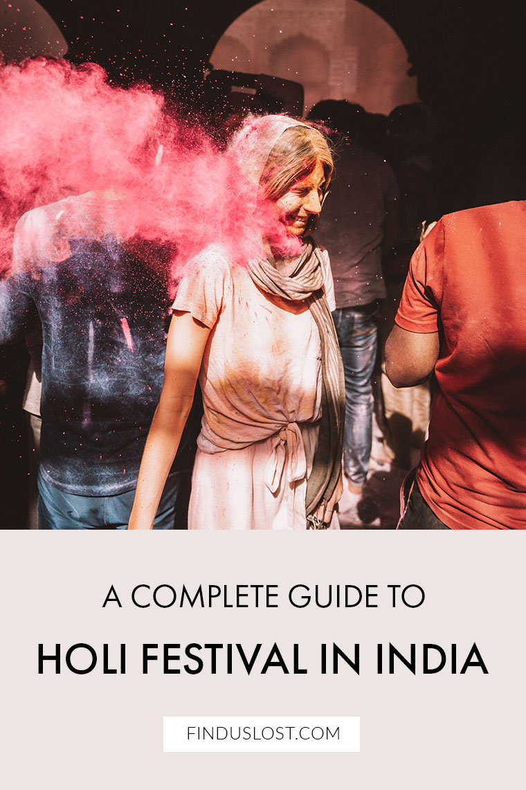 A Guide to Holi Festival in India | Vrindavan and Mathura via Find Us Lost