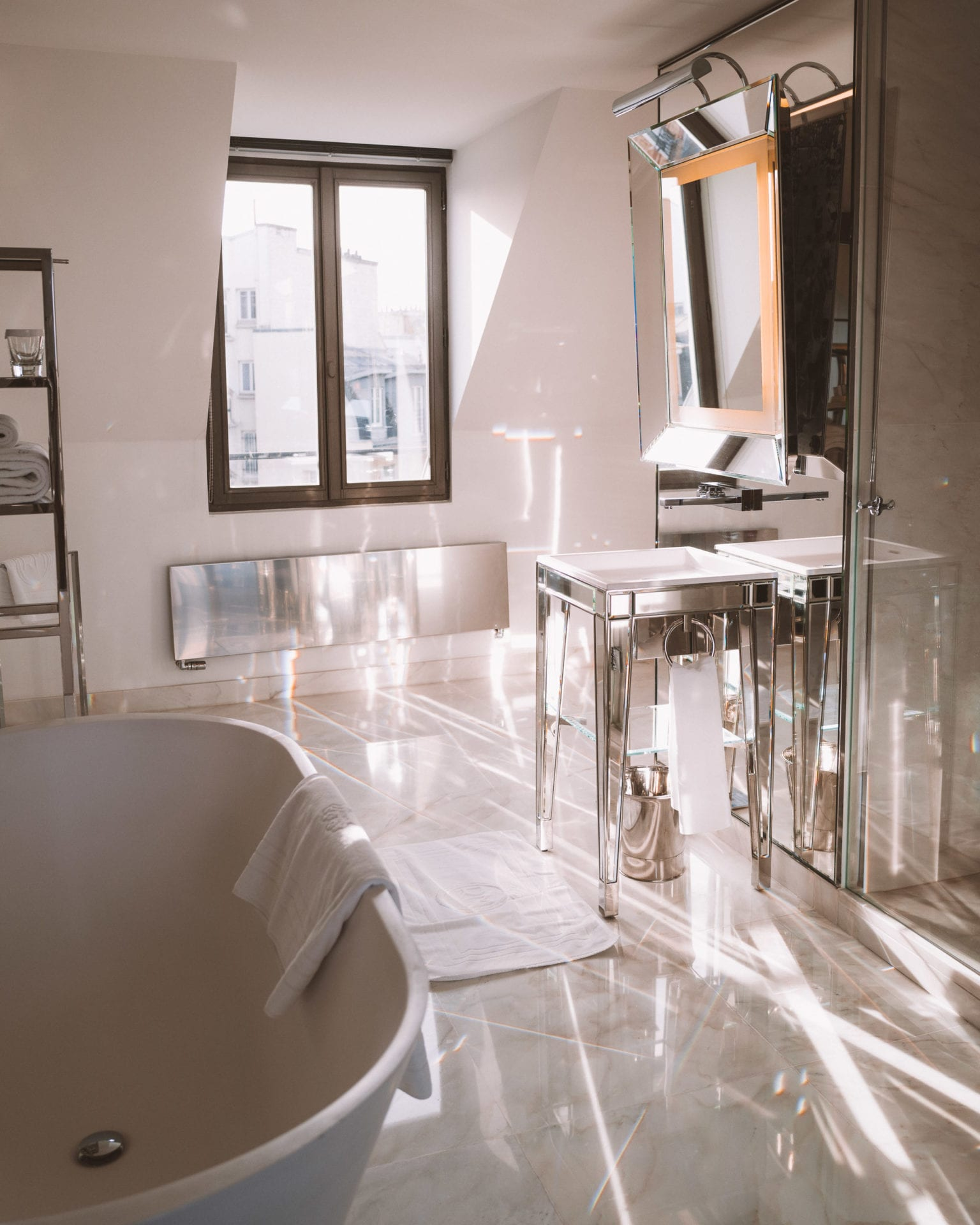 Bathroom at Le Royal Monceau for Valentine's Weekend in Paris France