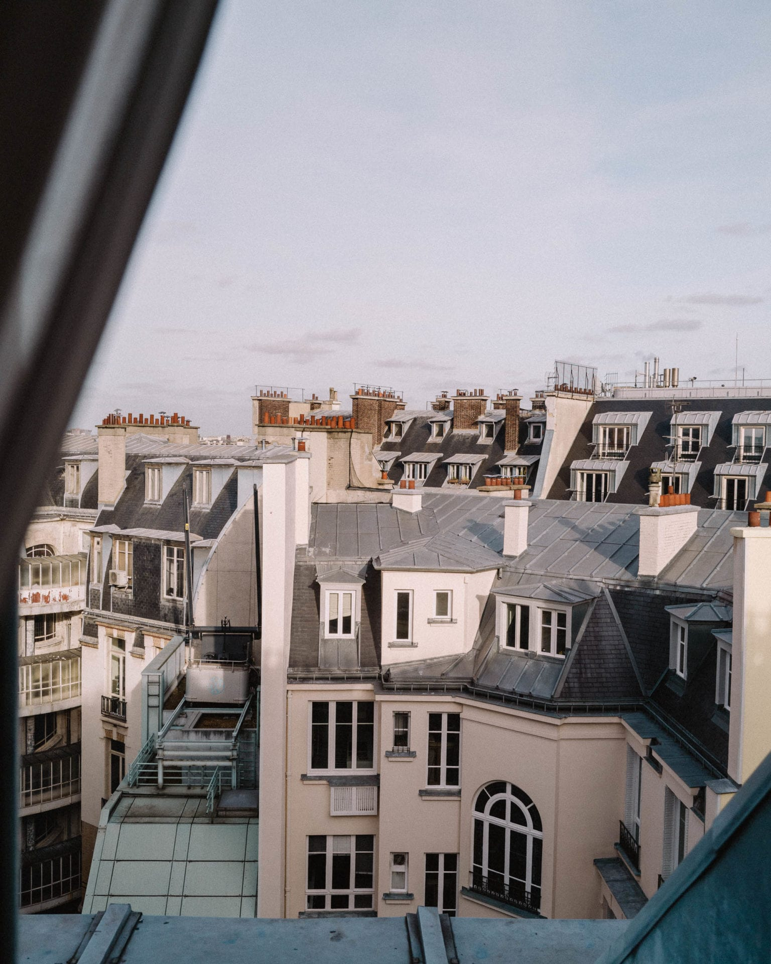 Parisian rooftop views from Le Royal Monceau Hotel