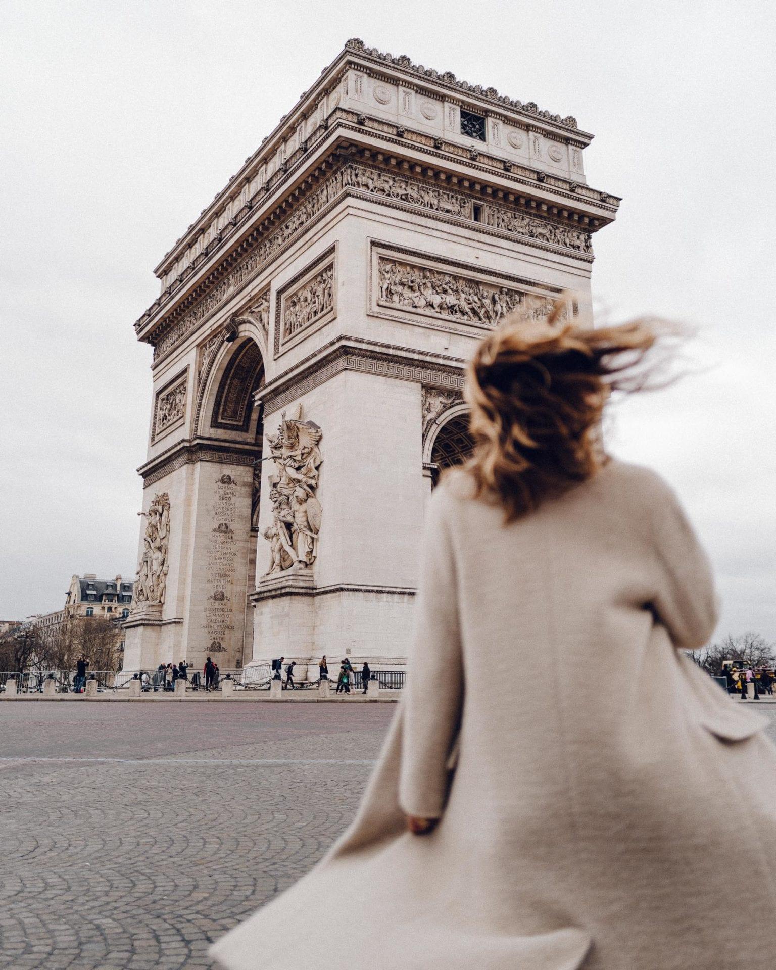 Arc De Triomphe in Paris via Find Us Lost