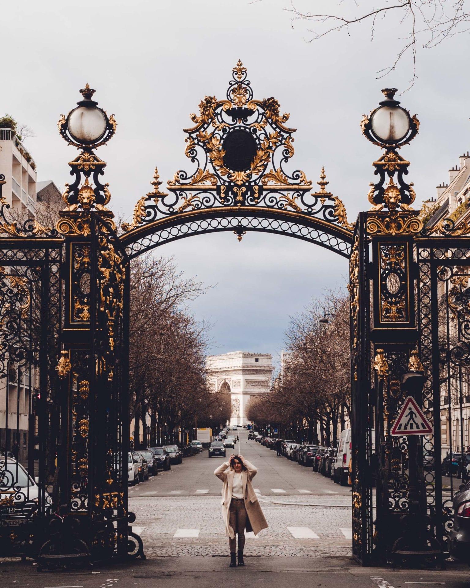 View of the Arc De Triomphe in Paris