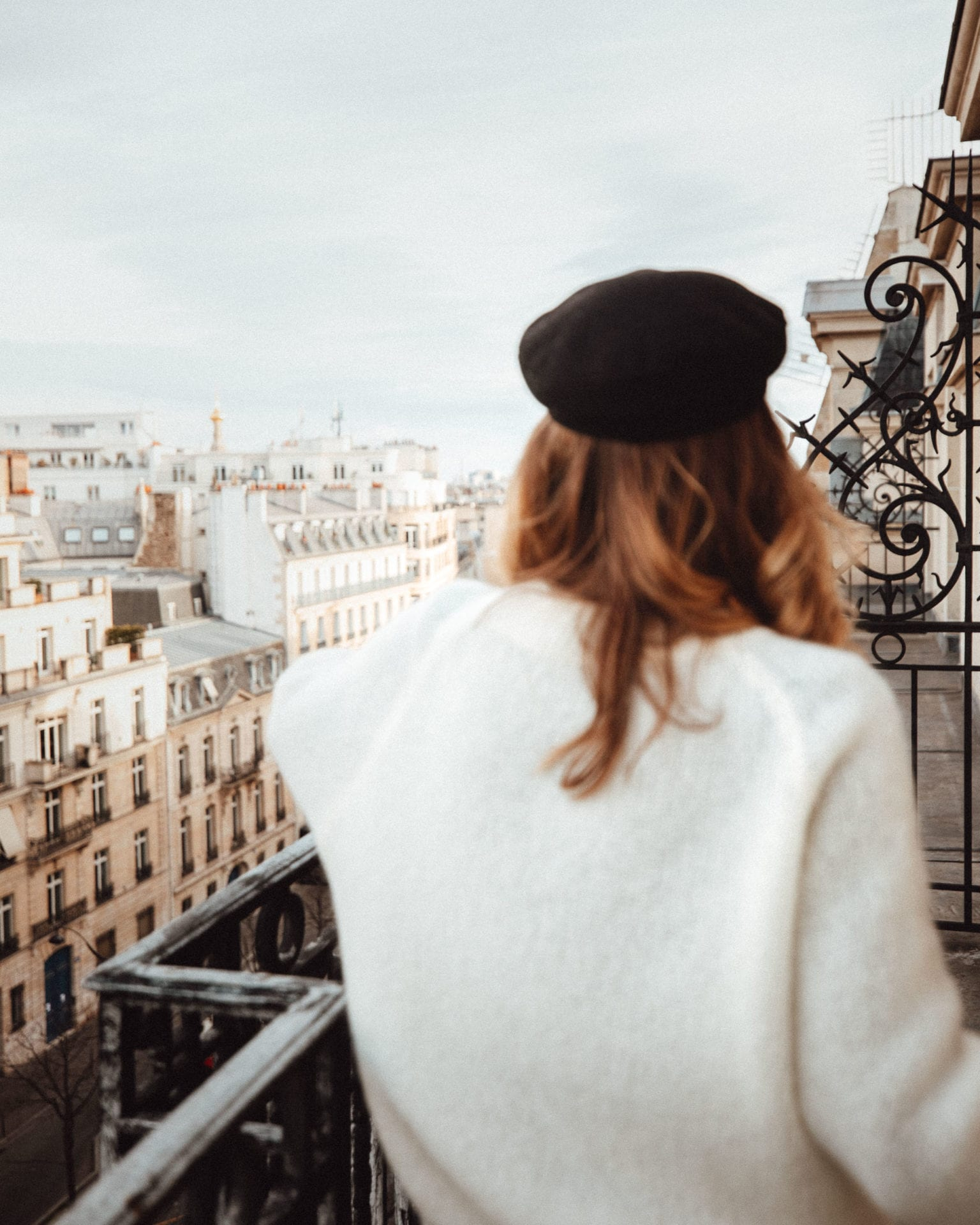 The balcony at Le Royal Monceau for Valentine's Weekend in Paris France