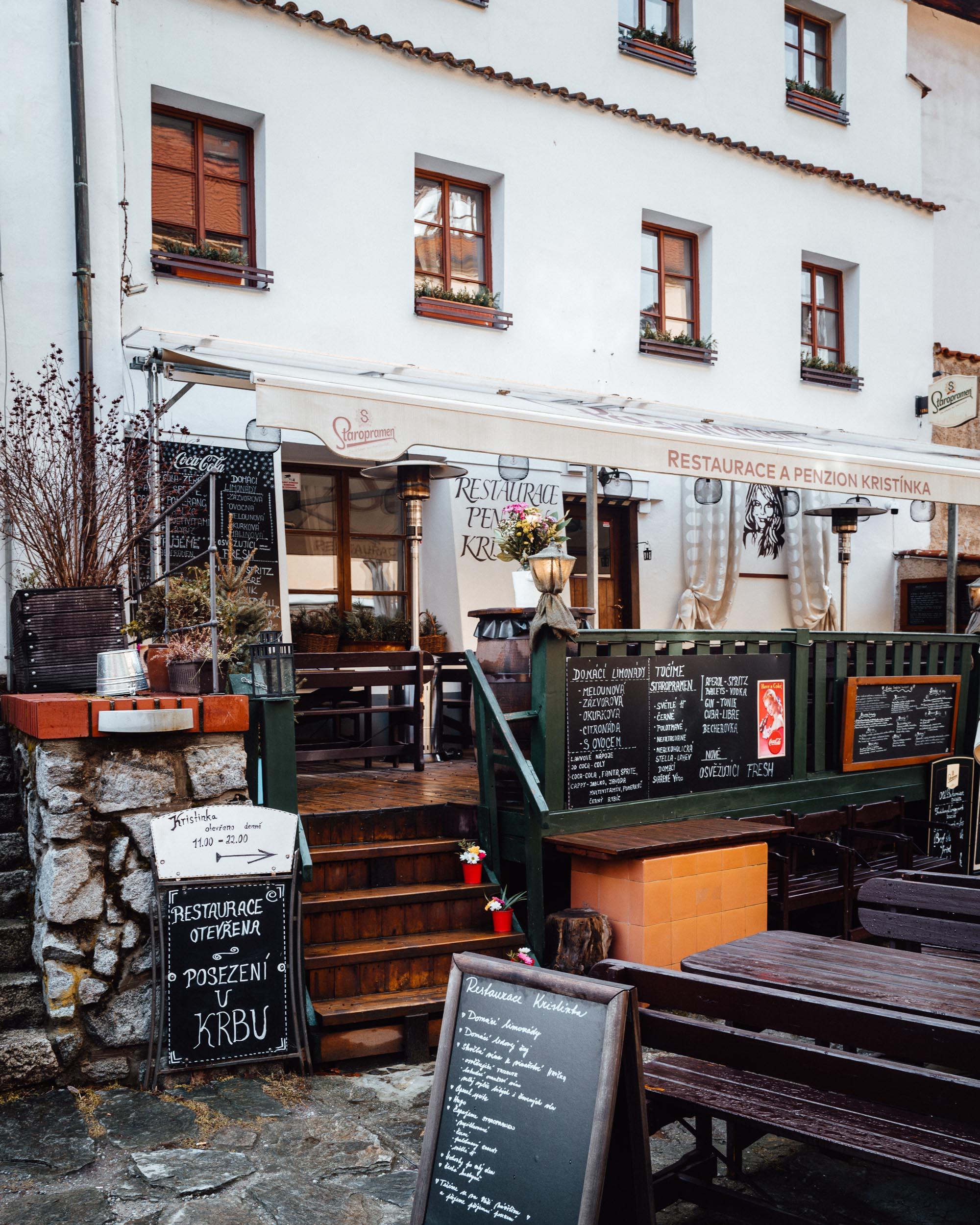 Cafe in Cesky Krumlov