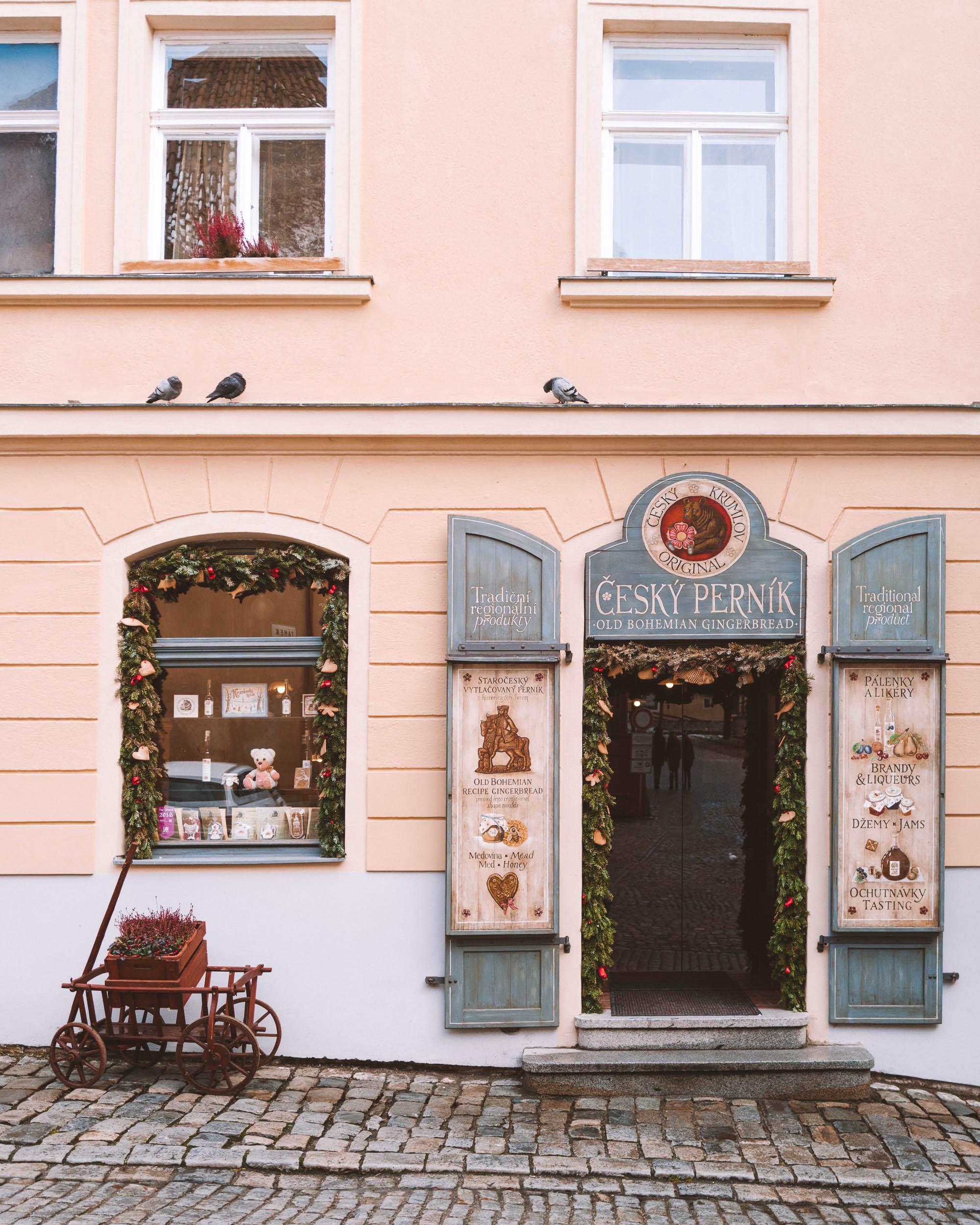 Pink building in Cesky, Krumlov.