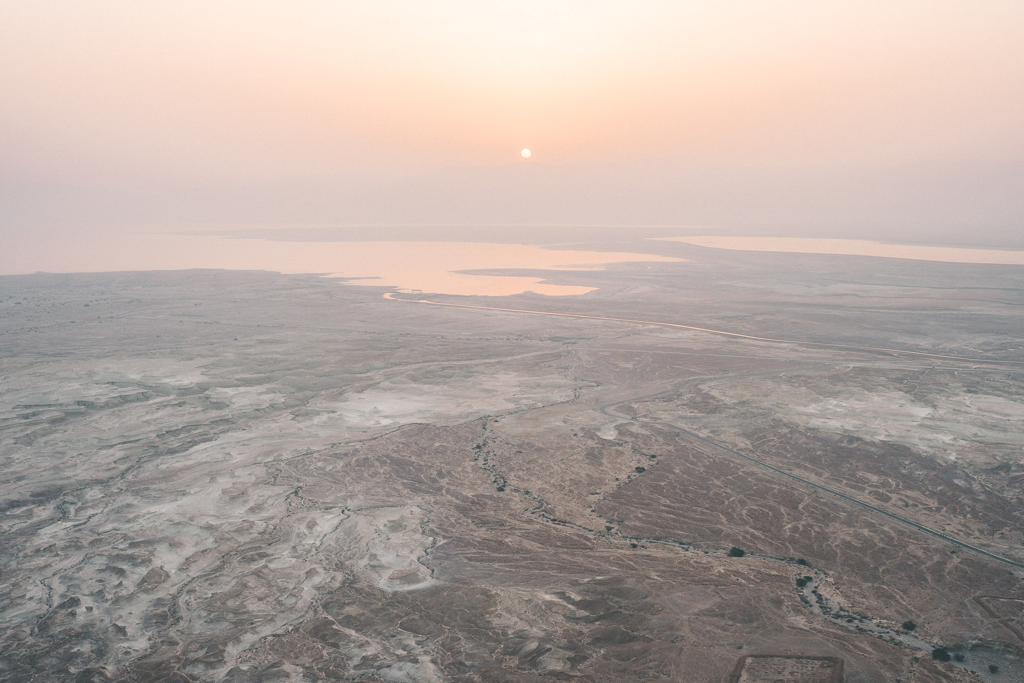 Sunrise over Masada dead sea in Israel
