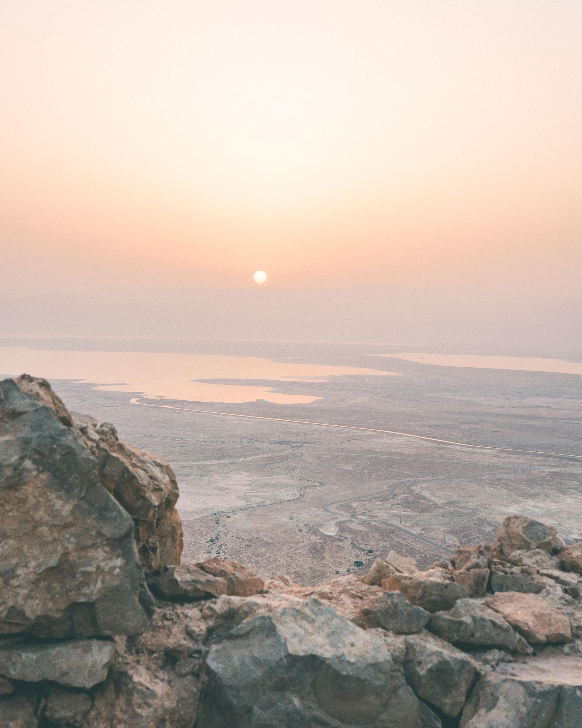 Sunrise over Masada in Israel
