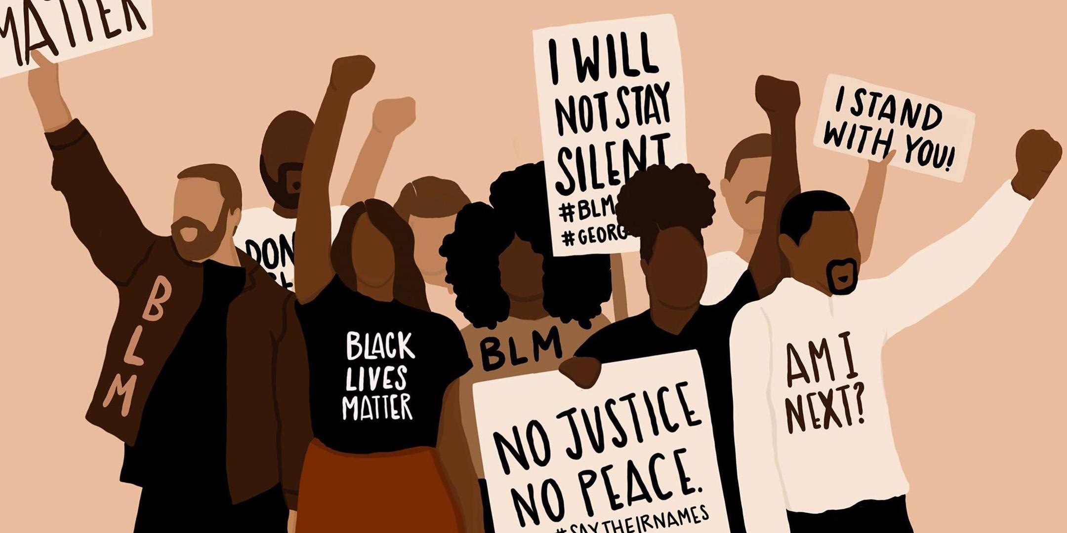 Black Lives Matter Banner Graphic via Stormy Nesbit