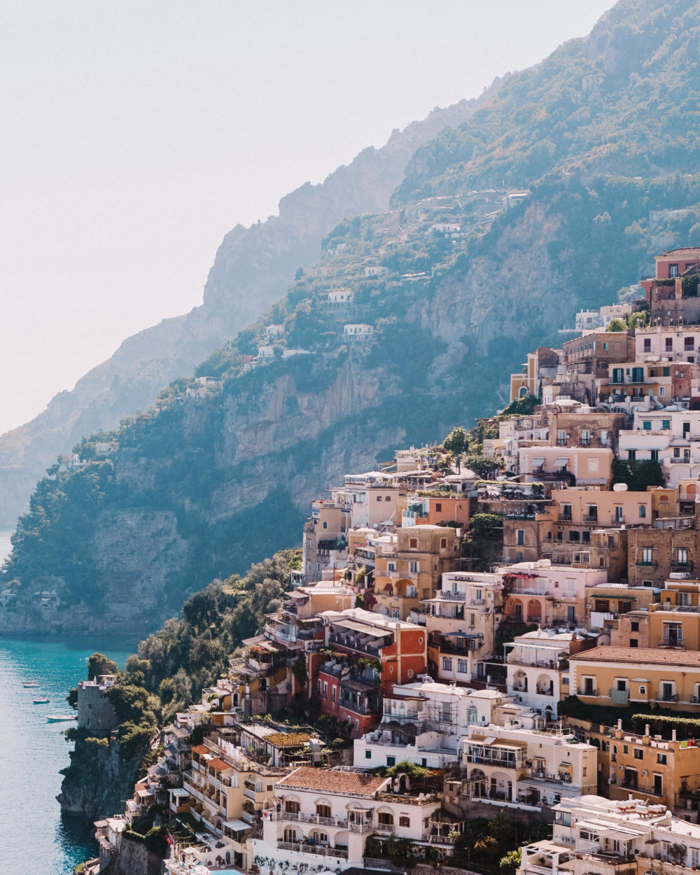 houses on the hills of Positano Italy