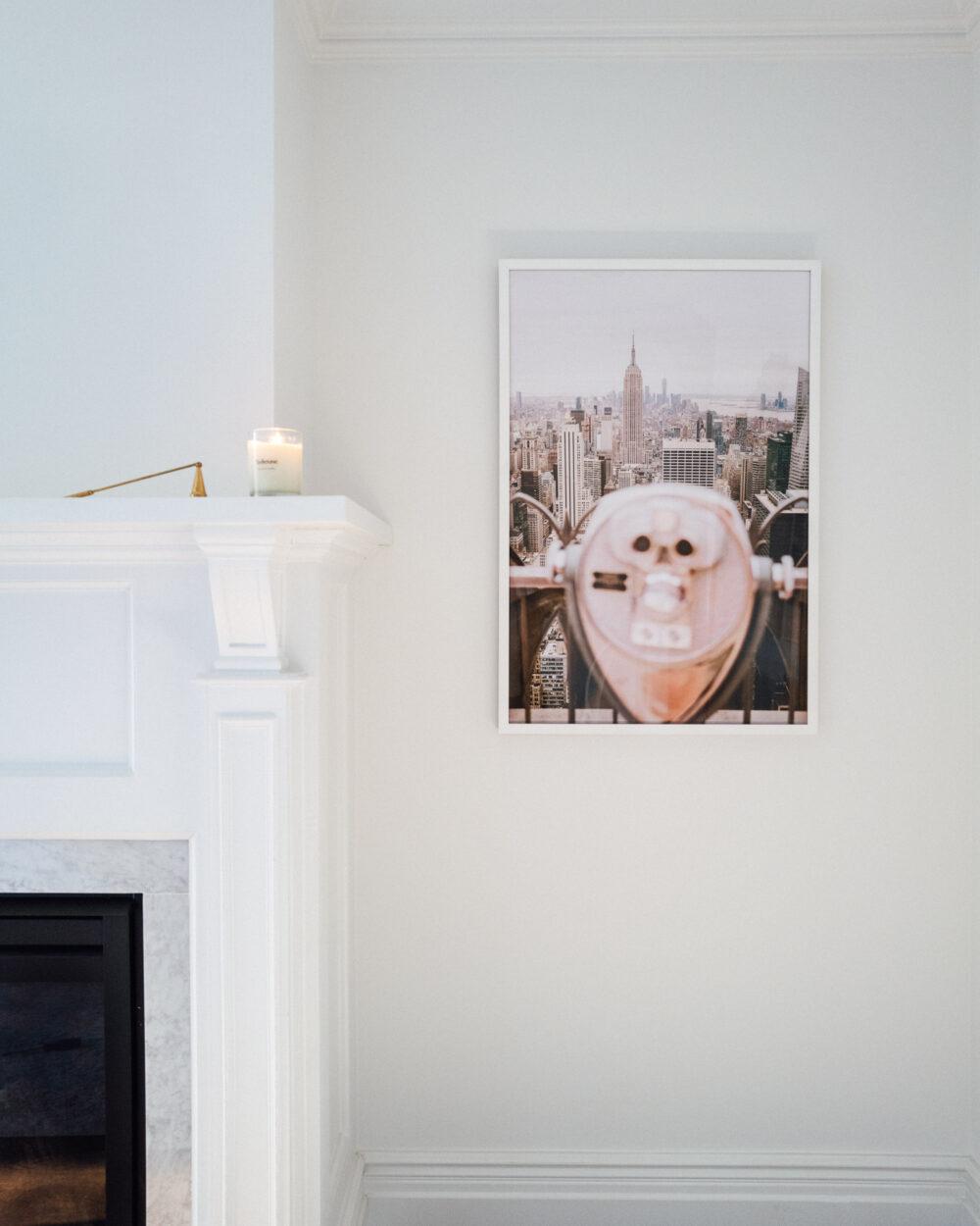 New York Skyline Print Manhattan Find Us Lost Prints
