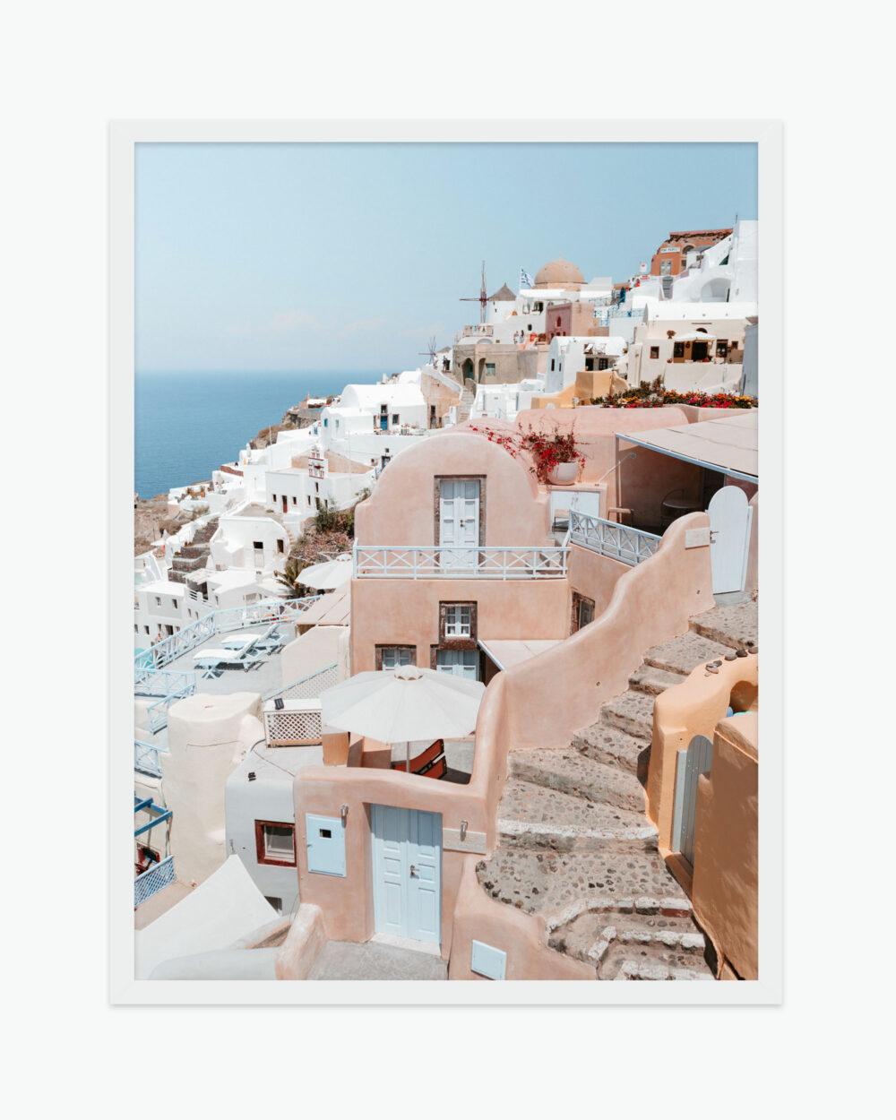 Santorini Greece Find Us Lost Prints