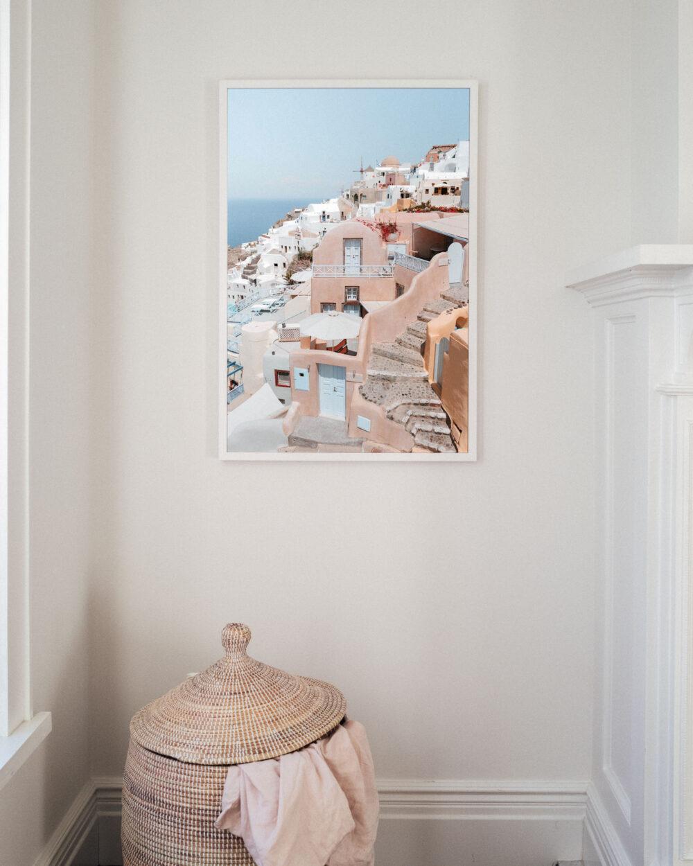 Oia Santorini Travel Poster Find Us Lost Prints