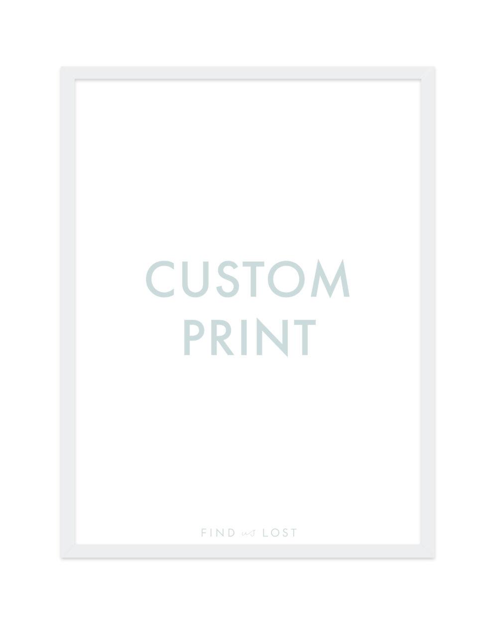 custom print find us lost