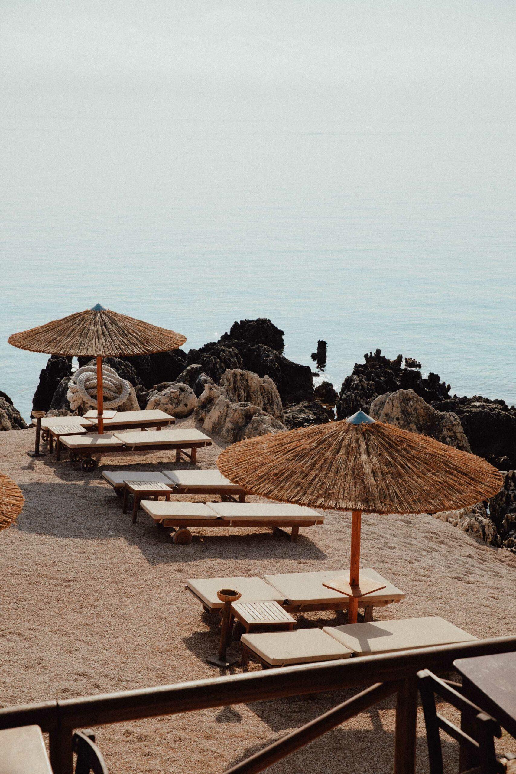 Nobelos seaside restaurant beach in Agios Nikolaos Zakynthos Greece