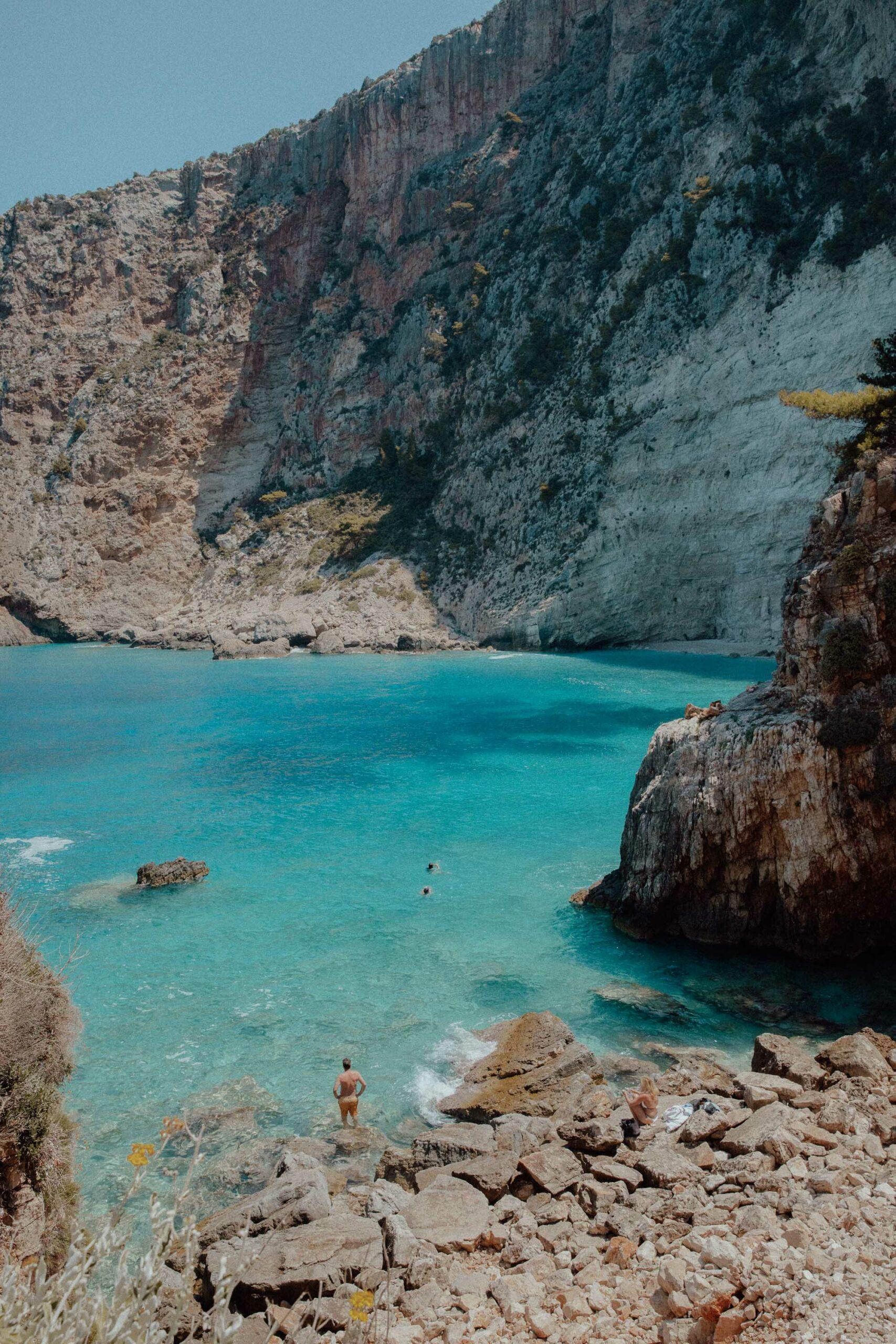Filippoi beach cove in Zakynthos Greece
