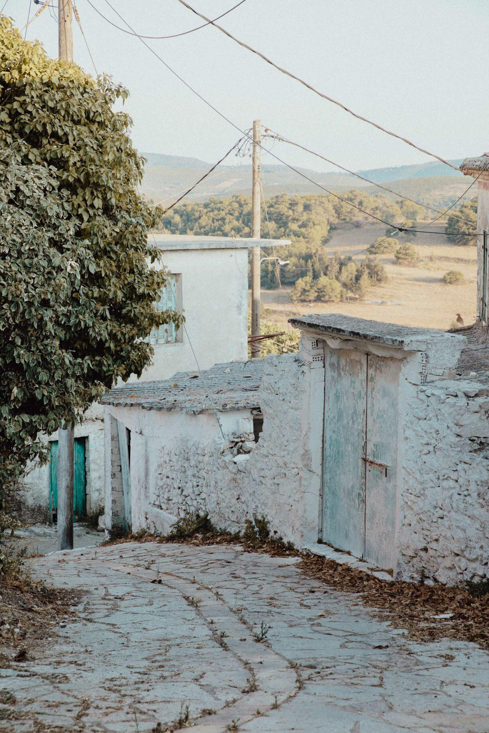 Traditional greek town of Volimes in Zakynthos Greece