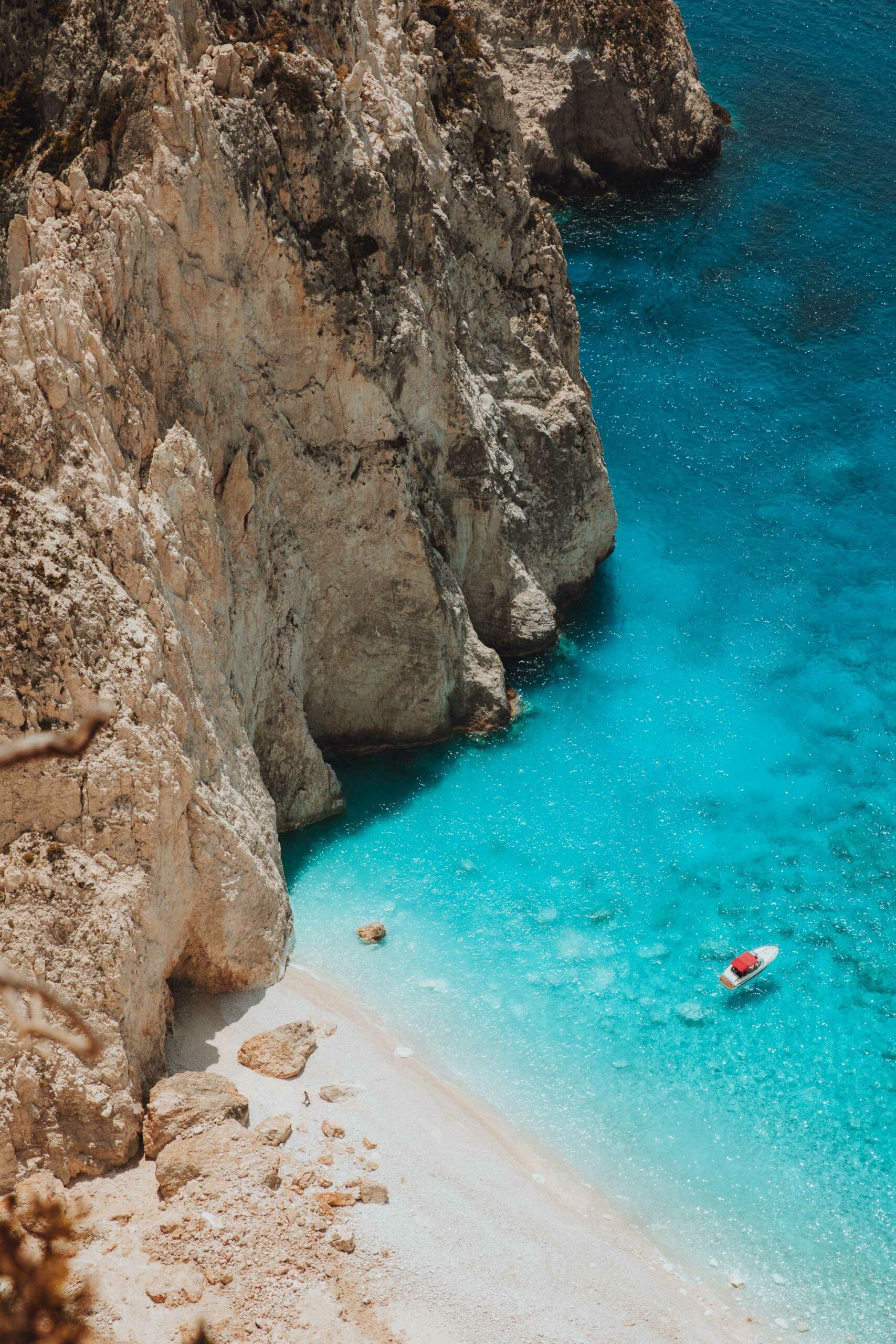 Mizithres beach viewpoint in Zakynthos Greece